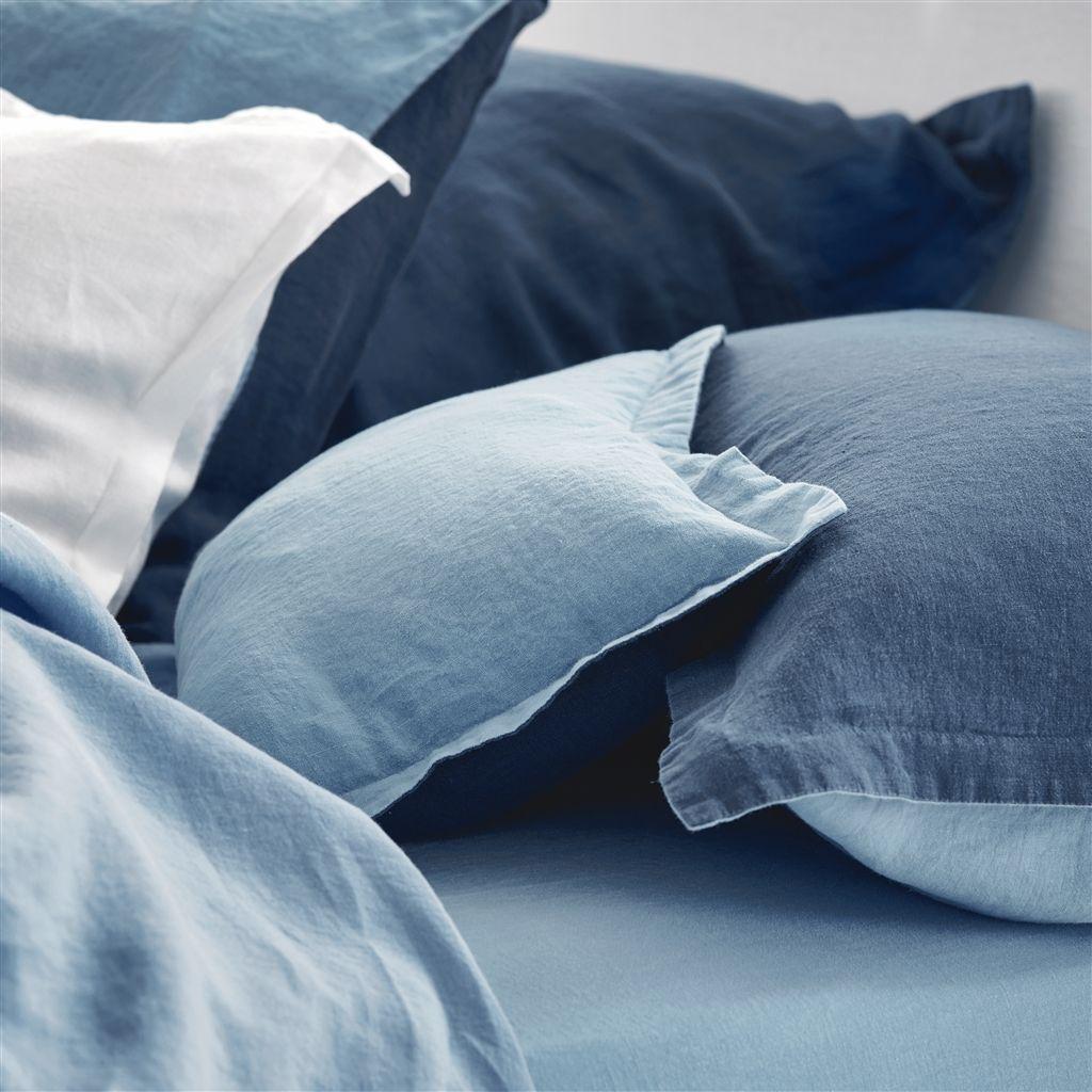 parure de lit biella midnight wedgwood tissus s verine. Black Bedroom Furniture Sets. Home Design Ideas
